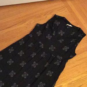 Universal Thread navy creme sleeveless maxi large